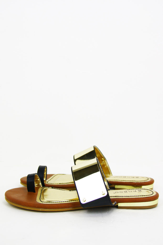 PLATED SANDAL - Black