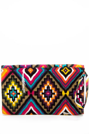 TRIBAL PRINT CLUTCH - Multi - Haute & Rebellious