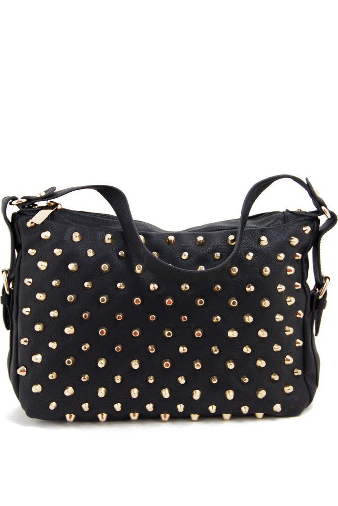 STUDDED PURSE - Black/Gold