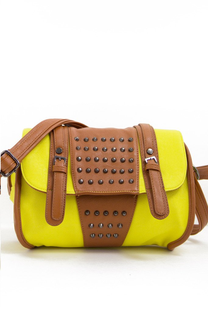 LENT CONTRAST STUDDED BAG - Haute & Rebellious