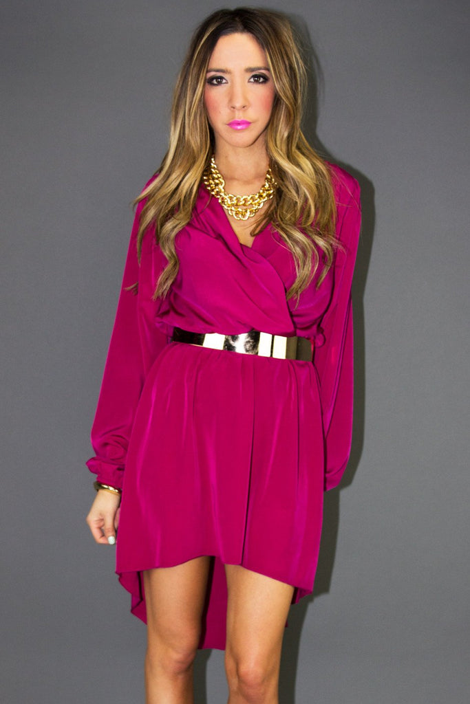 FUCHSIA DRESS - Haute & Rebellious