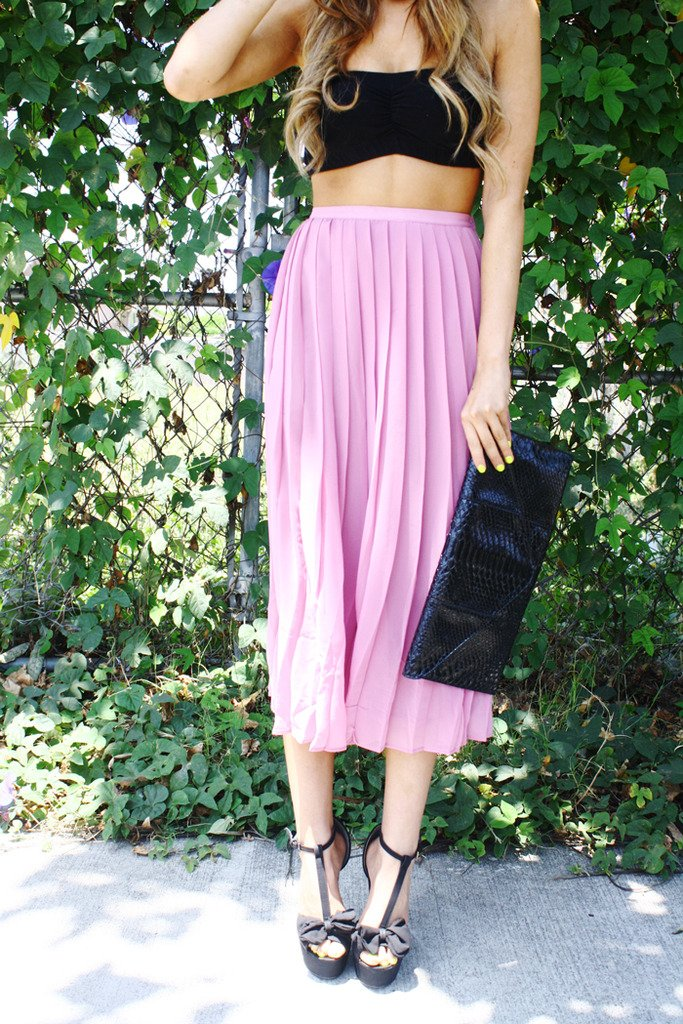 LONG SKIRT WITH PLEATS - Haute & Rebellious