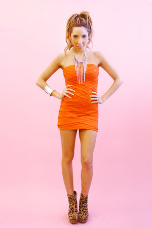 ORANGE RED DRESS - Haute & Rebellious