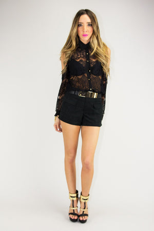 FRONT FLAP POCKET SHORTS (Final Sale) - Haute & Rebellious