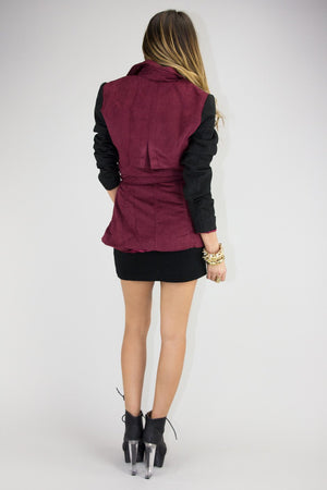FUTURE SHAPE CONTRAST SLEEVE JACKET - Haute & Rebellious