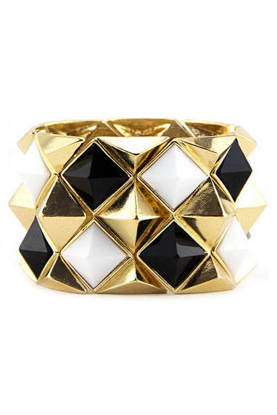 TRI COLOR PYRAMID CUFF