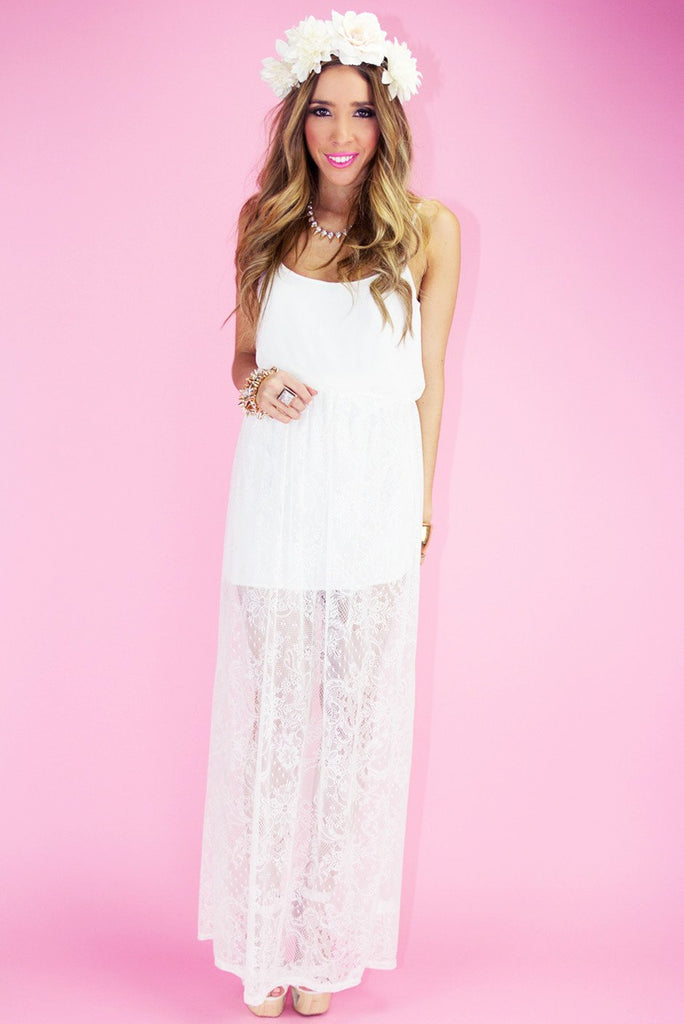 ISABELLA LACE DRESS - White