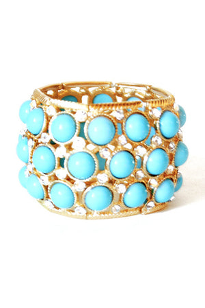 TURQUOISE  & GOLD BRACELET- sold out! - Haute & Rebellious