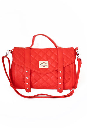Haute & Rebellious THE B BAG - Red in [option2]