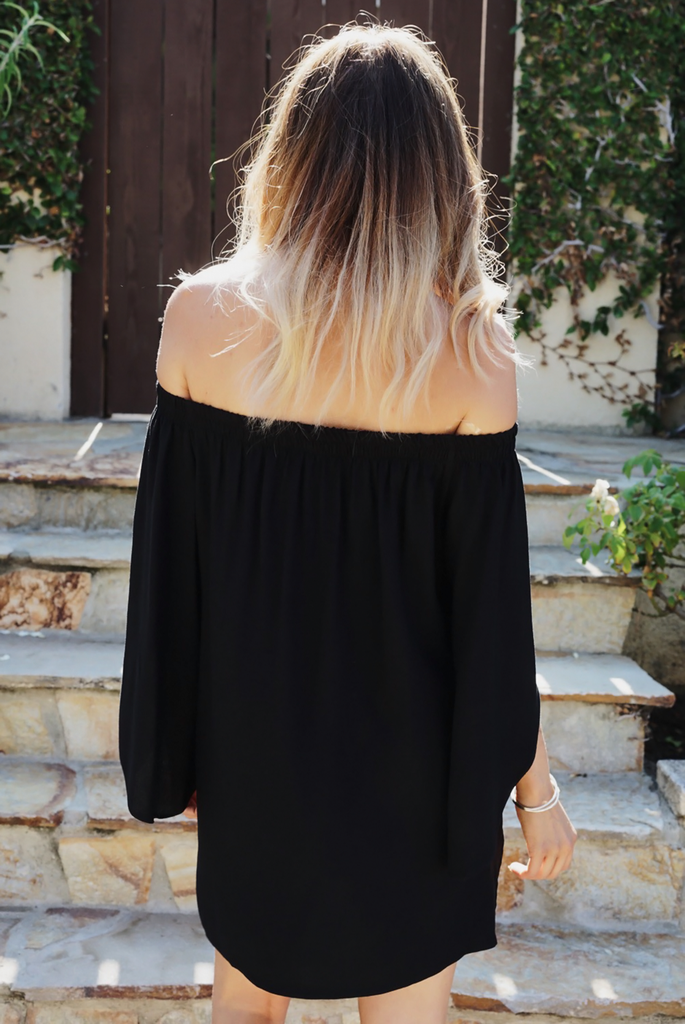 After You Off-Shoulder Tunic - Black - Haute & Rebellious