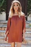 After You Off-Shoulder Tunic - Rust