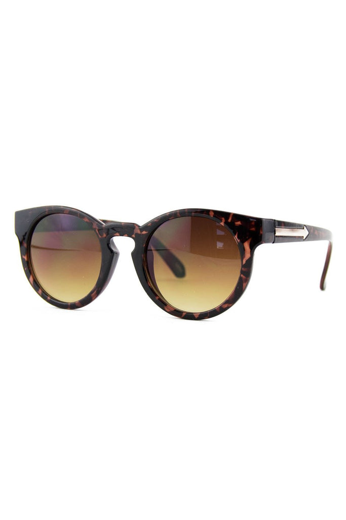ECLECTIC FRAME SUNGLASSES - Tortoise