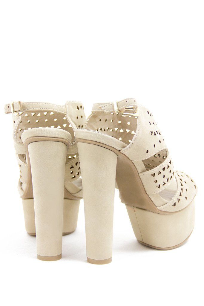 MIA CUTOUT PLATFORM - Cream - Haute & Rebellious