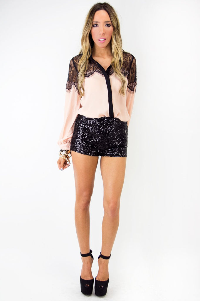 BRETTON SEQUIN BOOTY SHORTS