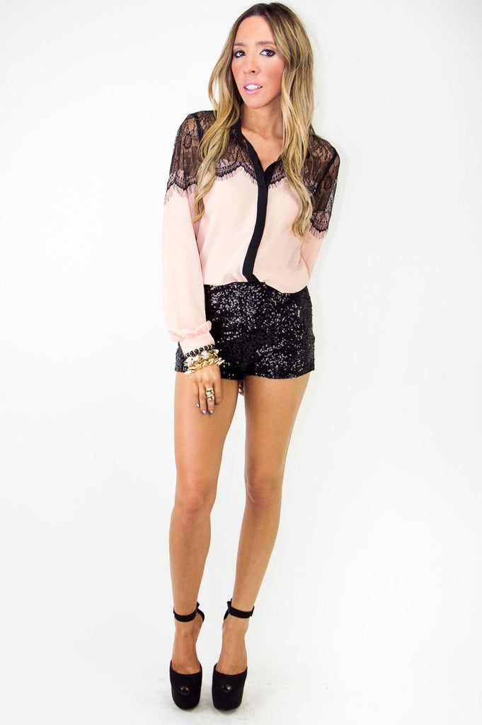 BRETTON SEQUIN BOOTY SHORTS - Haute & Rebellious