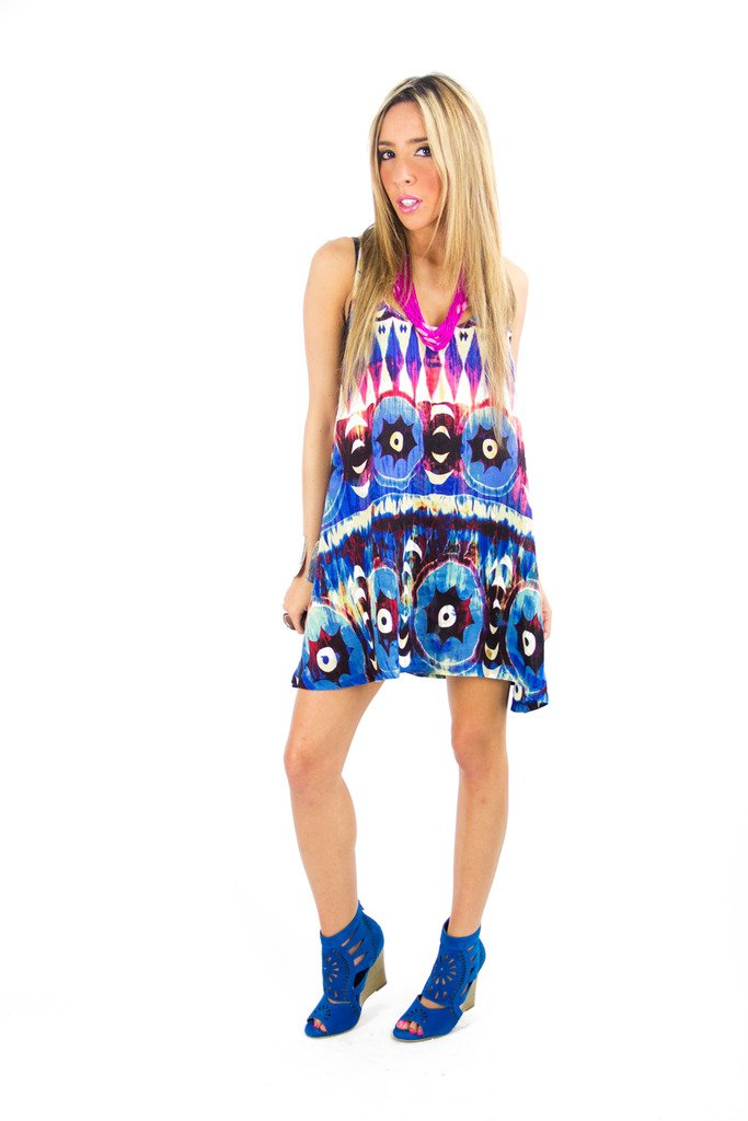 HANA TRIBAL TUNIC - Blue