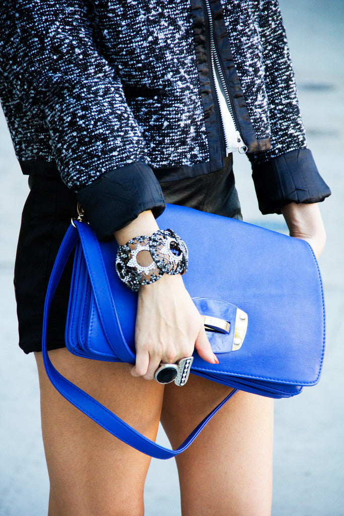 ROYAL BLUE CLUTCH