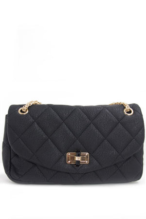 DOUBLE FLAP QUILTED BLACK BAG - Haute & Rebellious