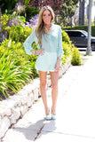 SOFT MINT CHIFFON BLOUSE