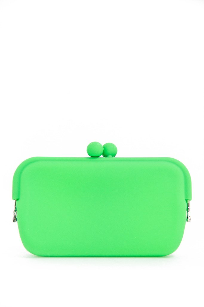 NEON PETITE RUBBER CLUTCH - Green