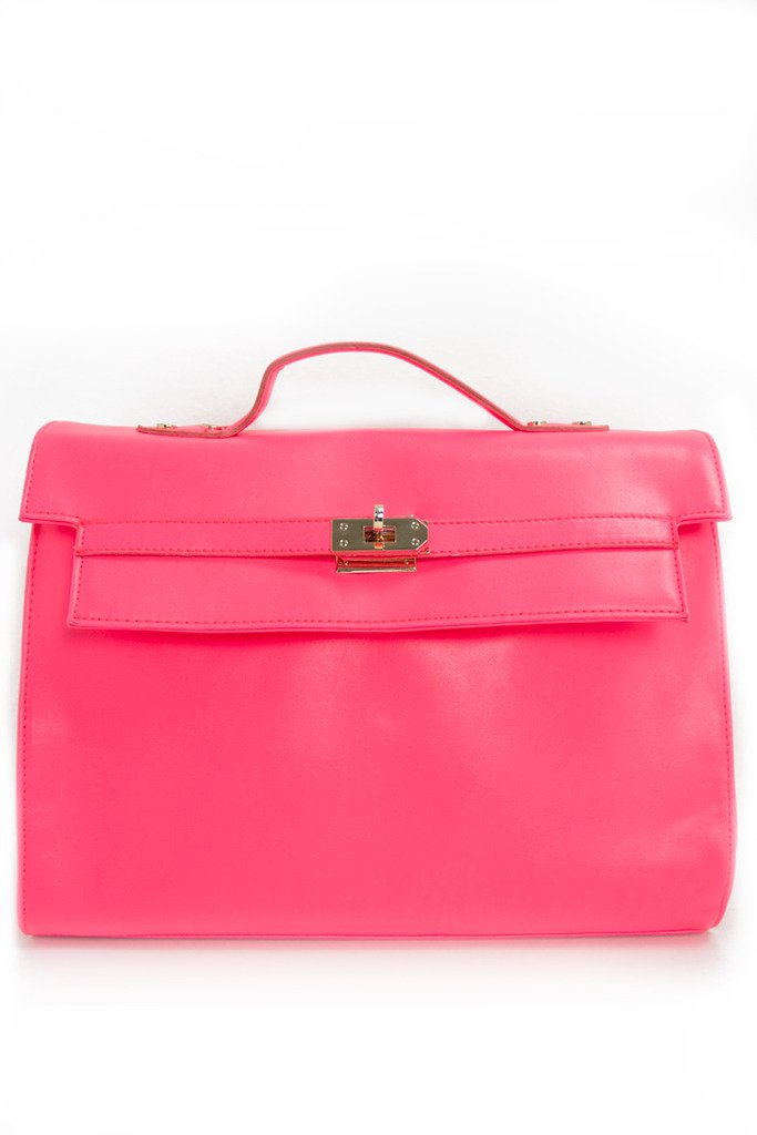 NEON PINK HIGHLIGHTER BAG