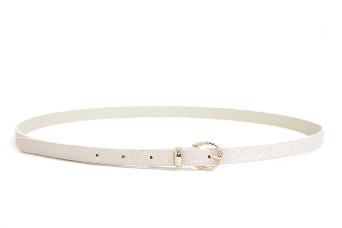 SKINNY BELT - White - Haute & Rebellious