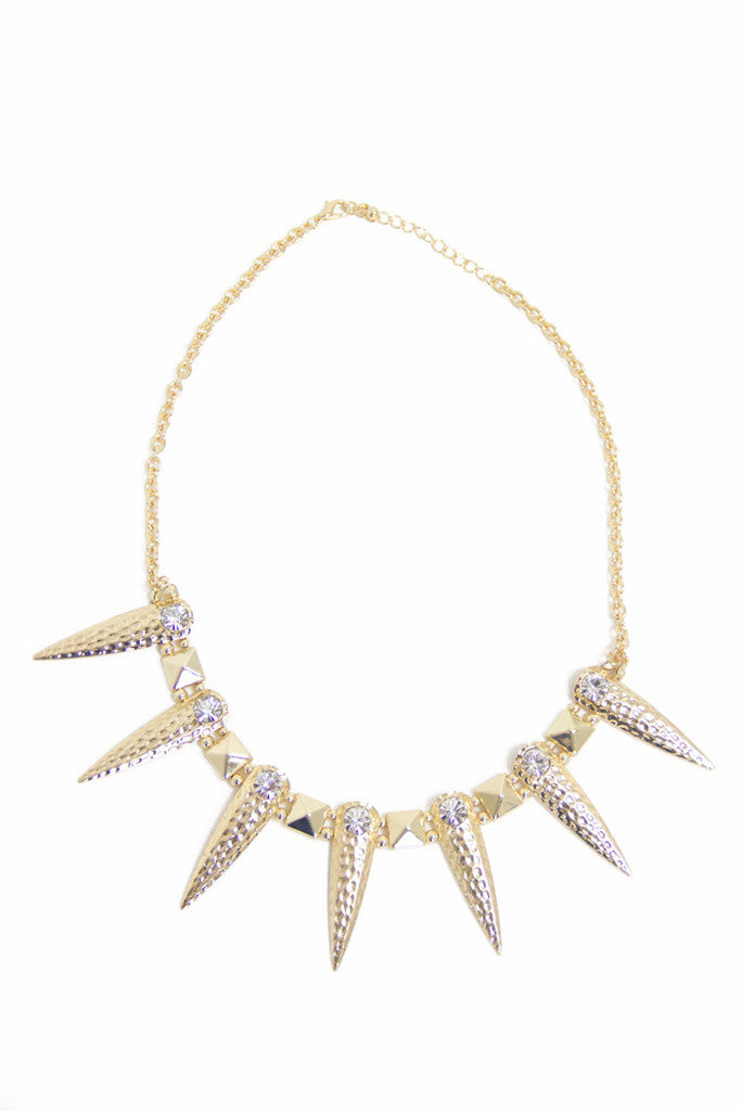 SPIKES NECKLACE - Gold - Haute & Rebellious