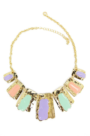 SUN SHAPE NECKLACE - Pastels/Gold - Haute & Rebellious