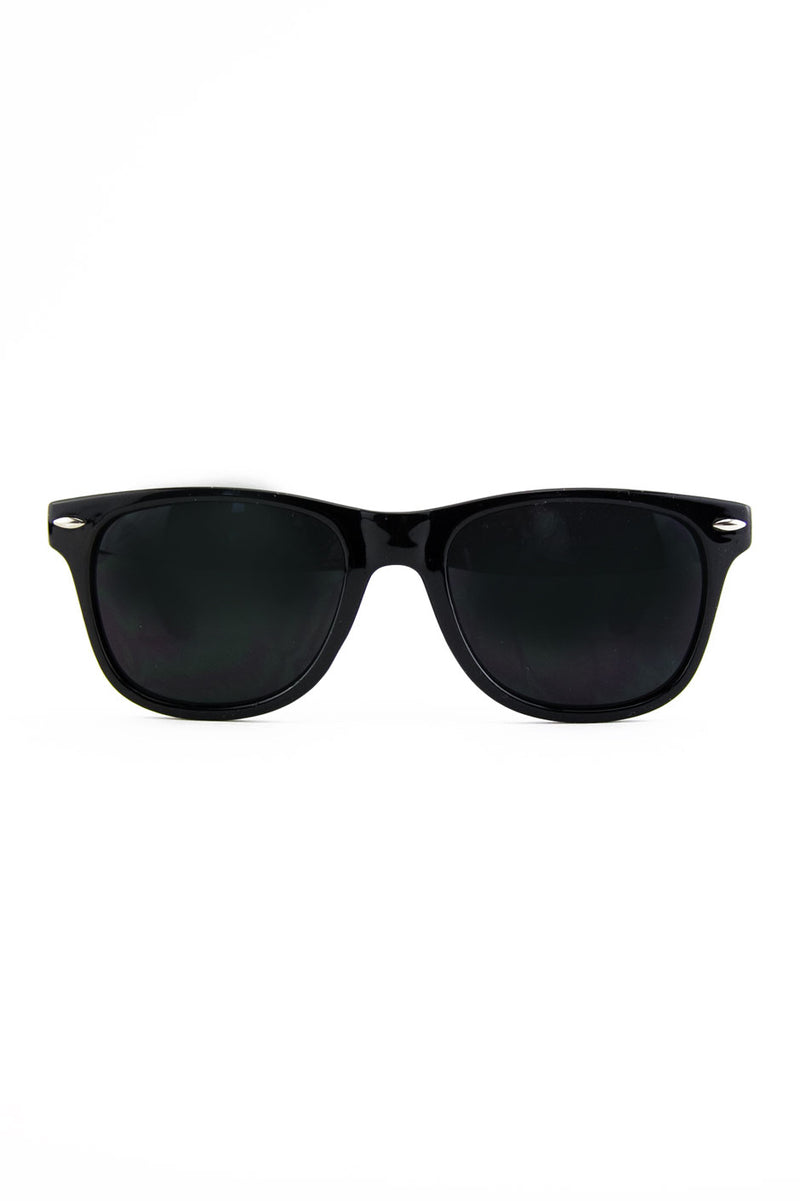 ROUNDED TOP WAYFARER - Black - Haute & Rebellious
