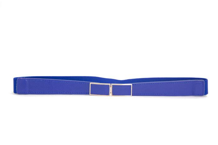 ELASTIC SKINNY BELT - Royal Blue
