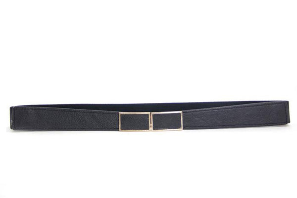 ELASTIC SKINNY BELT - Black - Haute & Rebellious