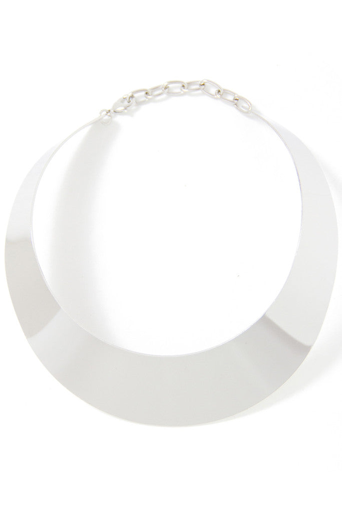 OVERSIZED CLEOPATRA NECKLACE - silver - Haute & Rebellious