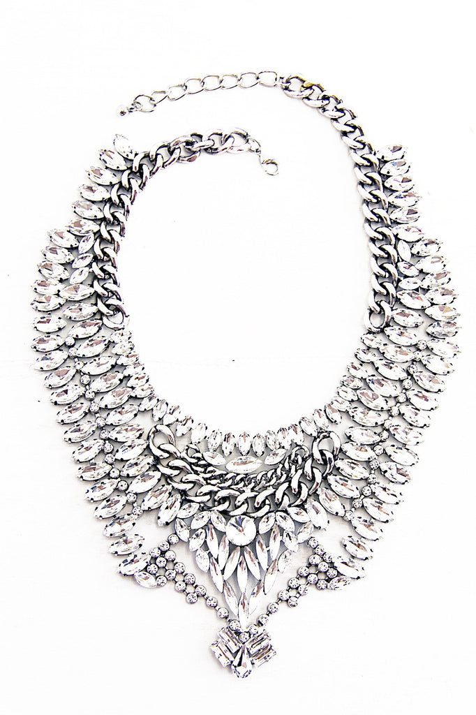 Joha Crystal Stones Statement Necklace