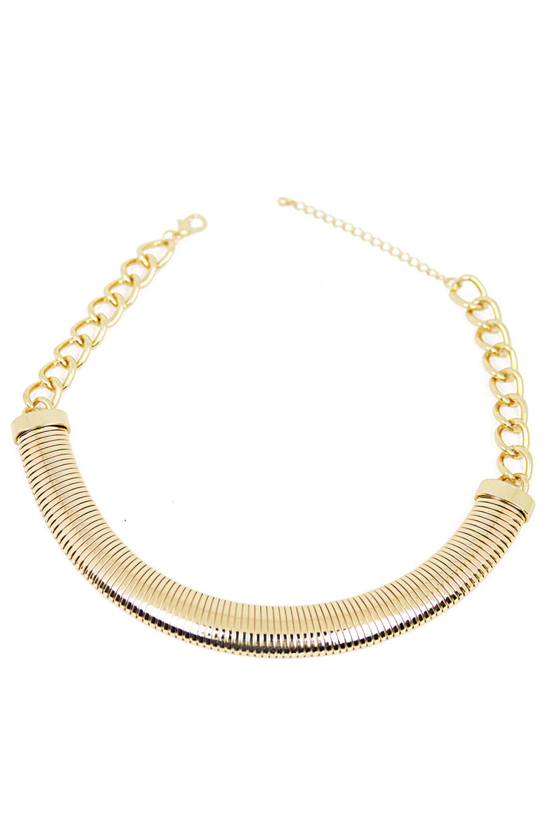 SNAKE CHAIN NECKLACE - Gold - Haute & Rebellious