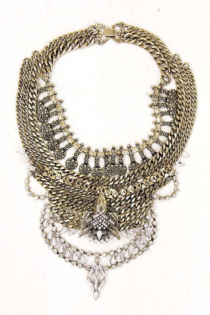 Leeyha Layered Statement Necklace - Gold