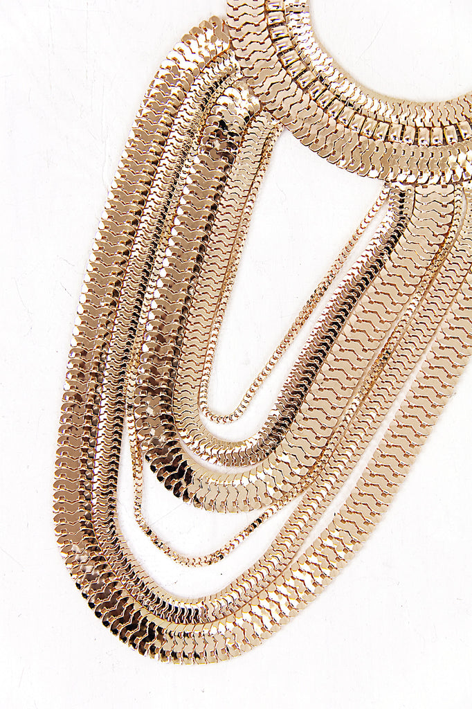 Statement Snake Link Chain Necklace