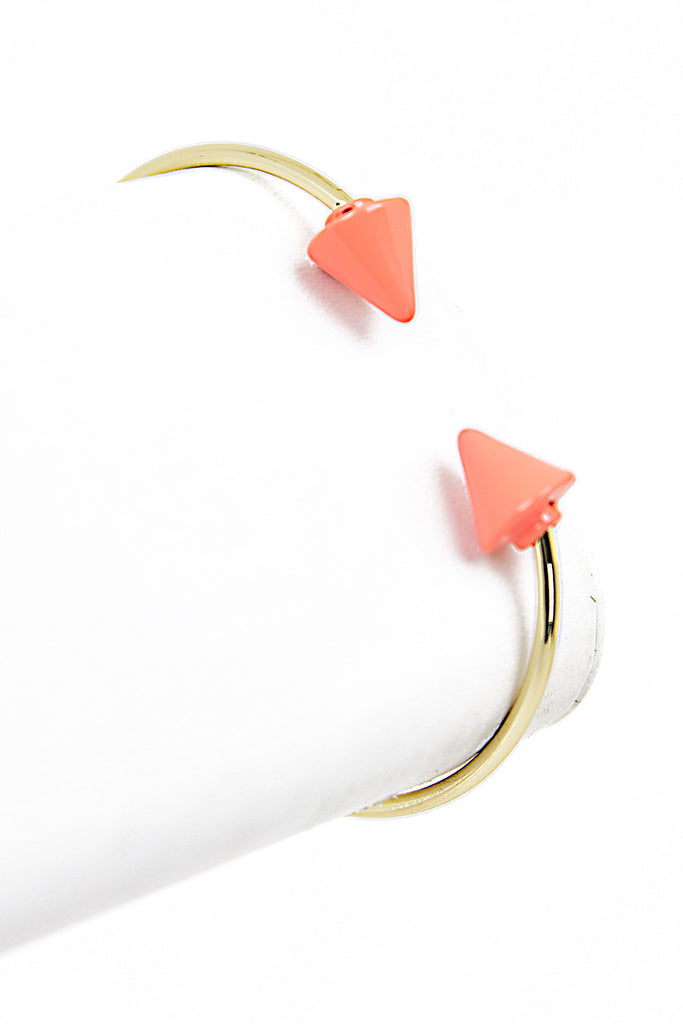 OPEN PETITE ARROW BRACELET - Orange/Gold