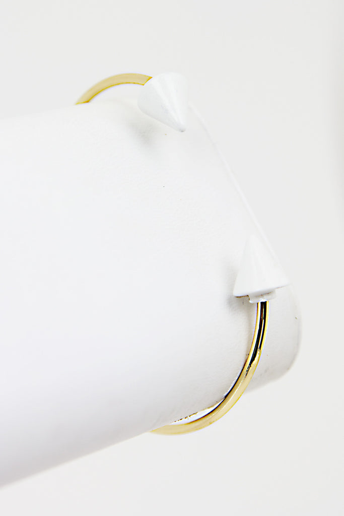 OPEN PETITE ARROW BRACELET - White/Gold