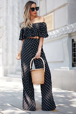 Polka Dot Top & Pant Set