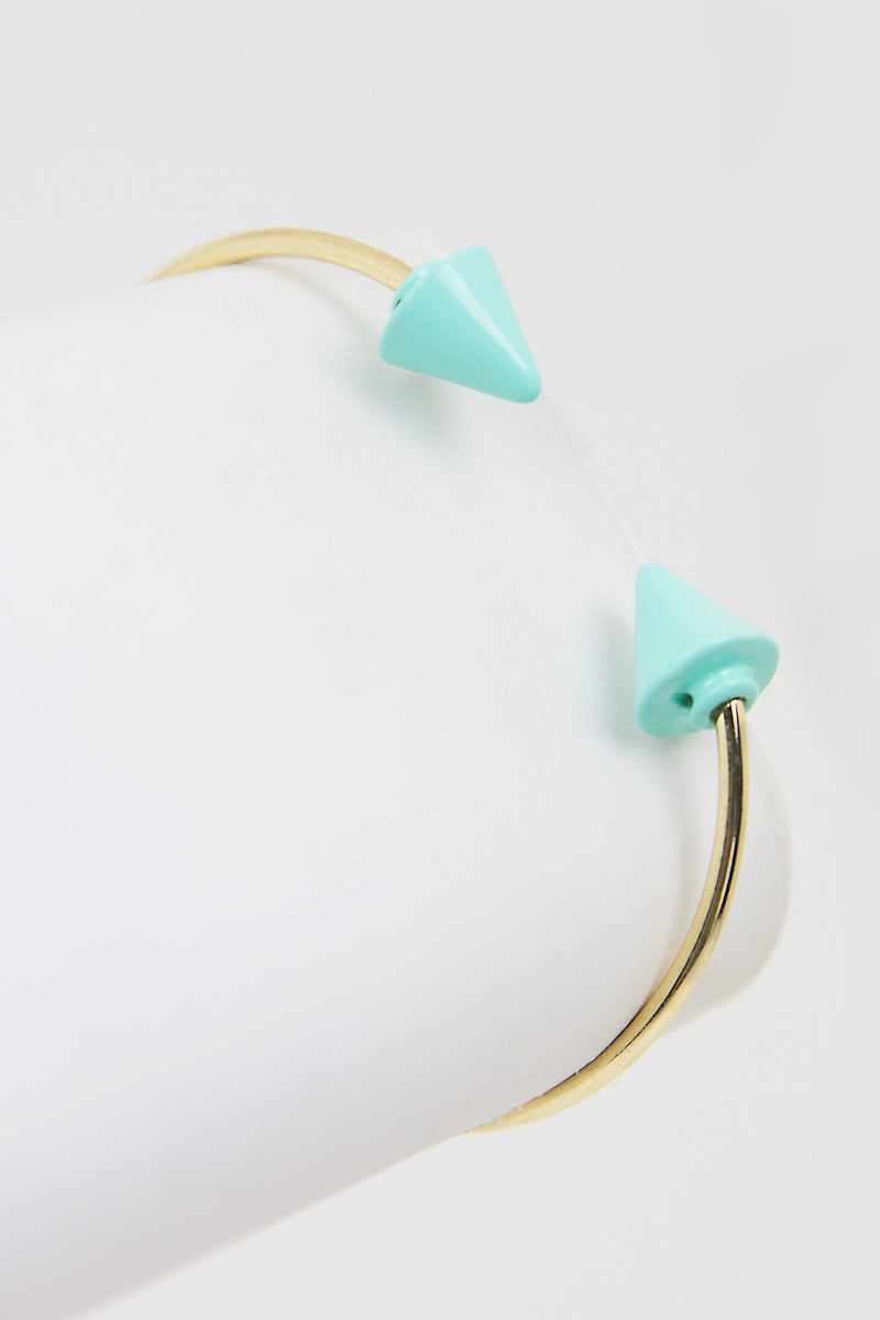 OPEN PETITE ARROW BRACELET - Mint/Gold - Haute & Rebellious