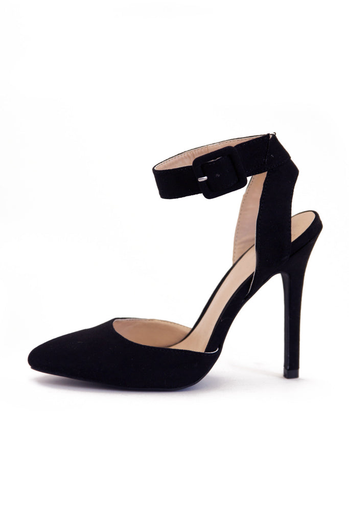 POINTY STRAP HEEL - Black