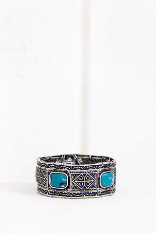 Engraved Pattern Boho Cuff