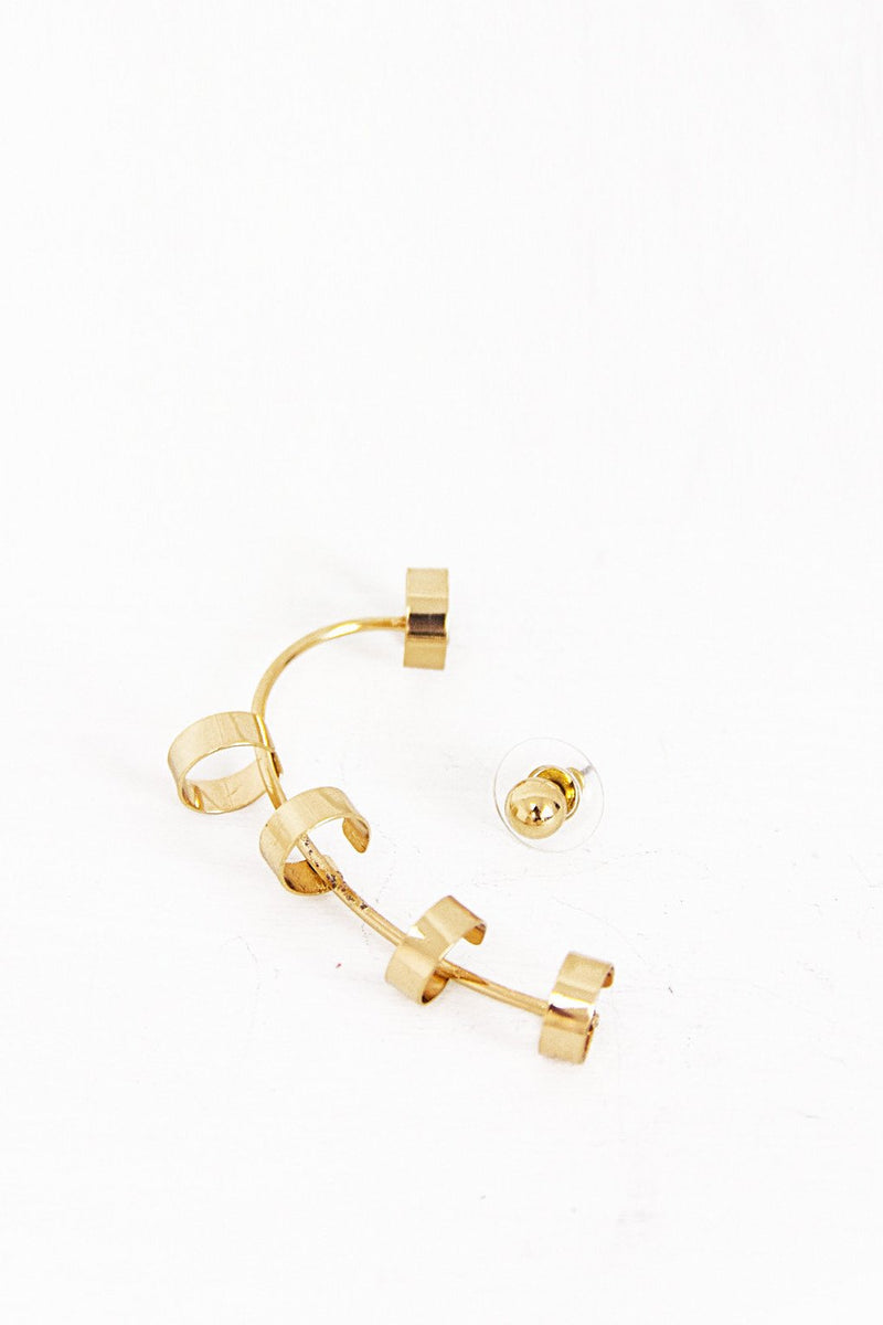 Jakah Hoop Ear Cuff - Gold - Haute & Rebellious