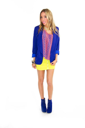 NEON YELLOW SKIRT - Haute & Rebellious