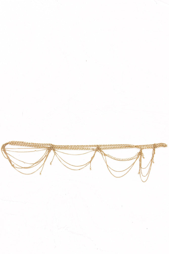 Malina Gold Link Body Chain