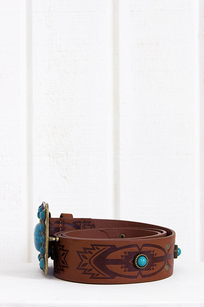 Lone Ride Stone Buckle Belt