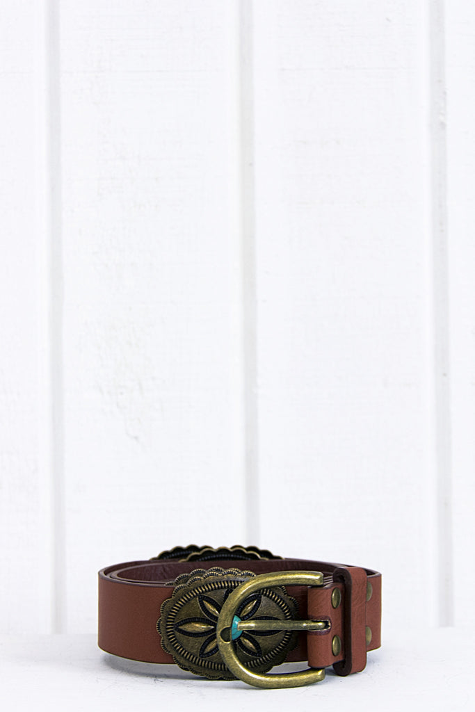 Ryder Western Stone Belt - Brown