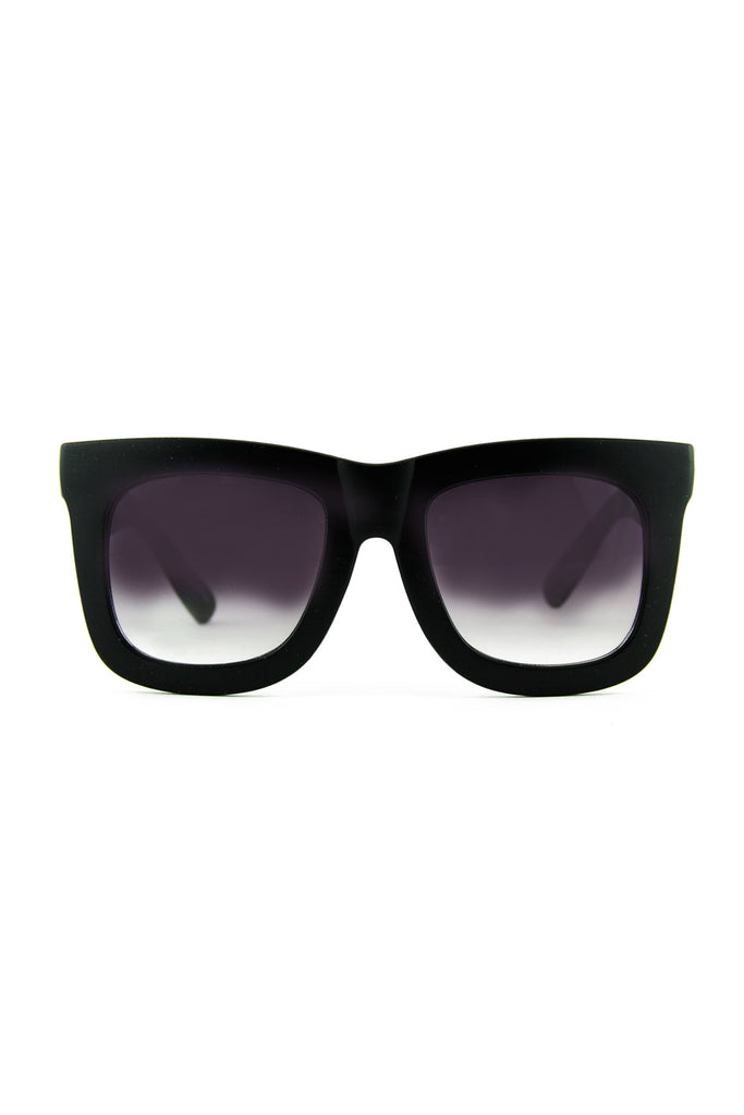 THICK FRAME SUNGLASSES - Black