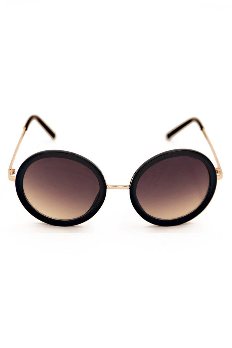 CIRCLE FRAME GOLD BRIDGE - Black - Haute & Rebellious