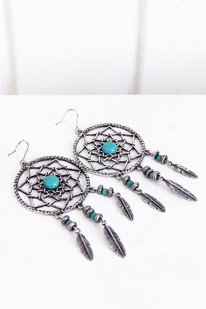 Metal Dream Catcher Earring